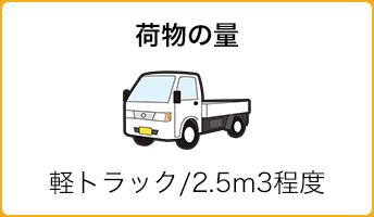 荷物の量:軽トラック/2.5m3程度