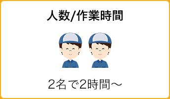 人数/作業時間:2名で2時間〜